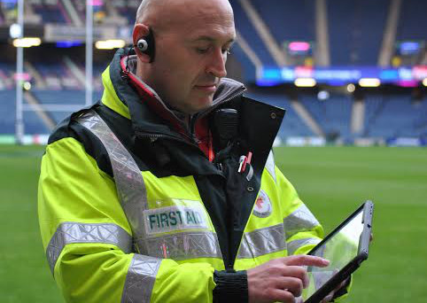Mime's kit was put through its paces at Murrayfield Stadium